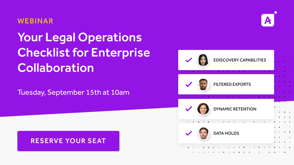 Webinar | Your Legal Operations Checklist for Enterprise Collaboration