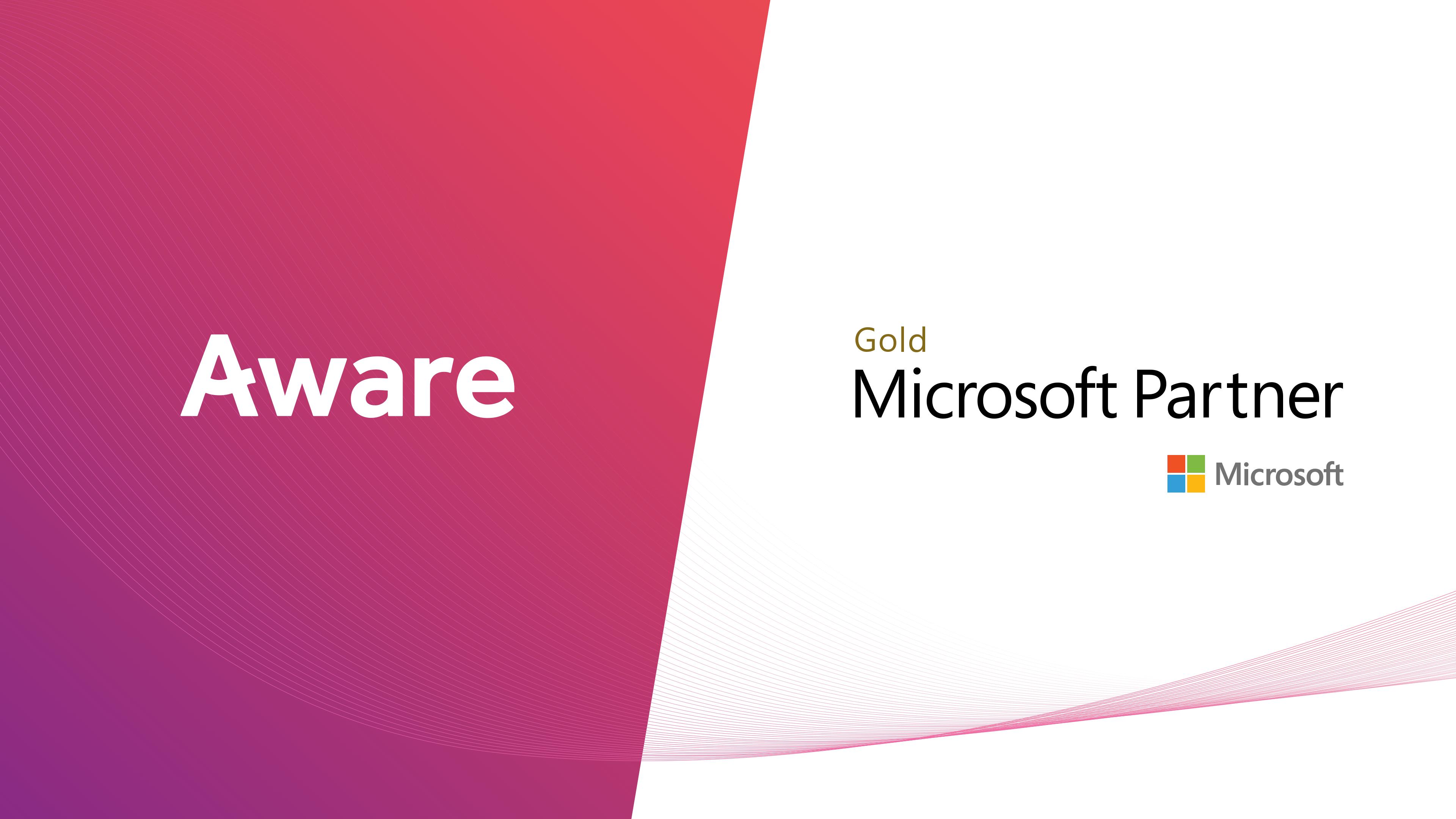 Aware Achieves Microsoft Gold Partner Status